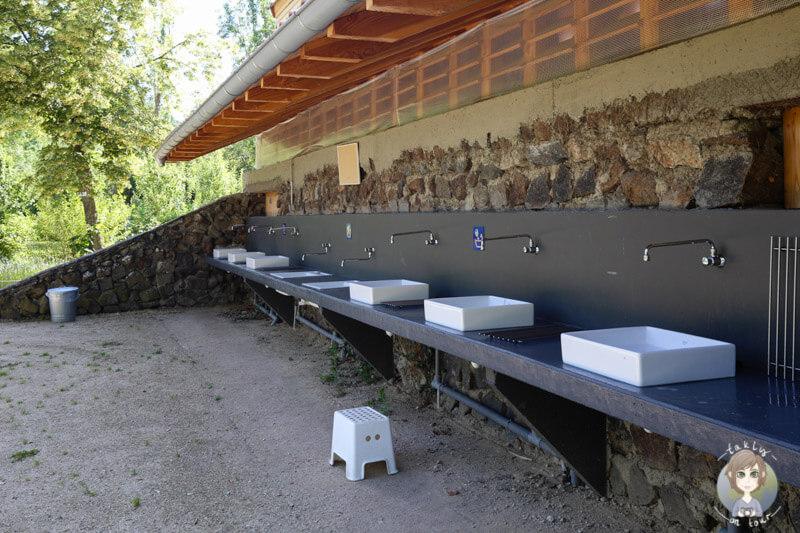 Waschmöglichkeiten im CosyCamp