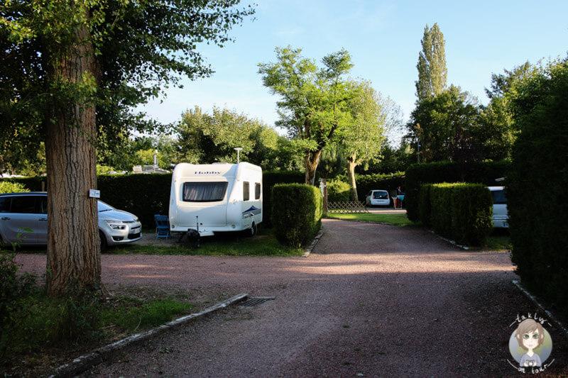 Wohnwagenstellplatz, Camping Beau Rivage Frankreich