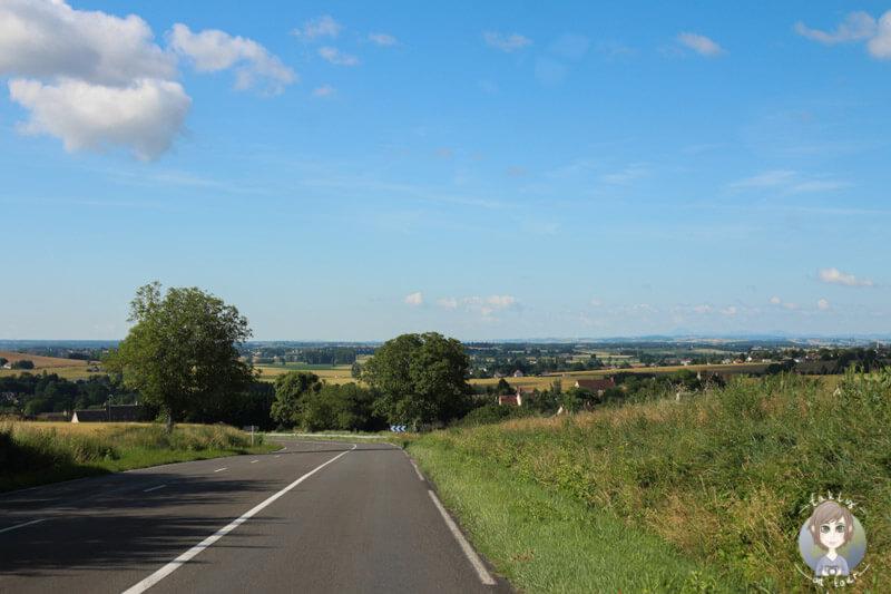 Fahrt durch die Auvergne