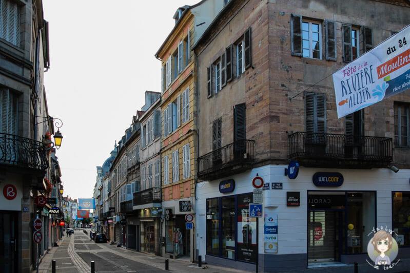 Das Zentrum von Moulins, Frankreich