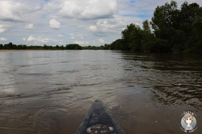 Kanufahren auf dem Fluss Allier, Moulins, Frankreich
