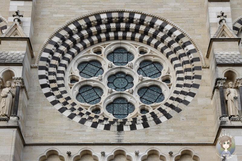 Fensterrose von der Kathedrale Moulins