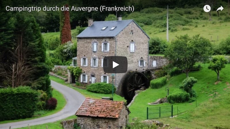 Youtube Auvergne Campingtrip