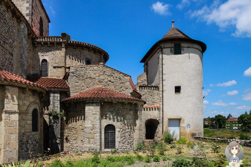 Das Benediktinerkloster in Chantelle, Frankreich