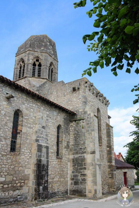 Die Kirche St. Jean Baptiste in Charroux, Auvergne