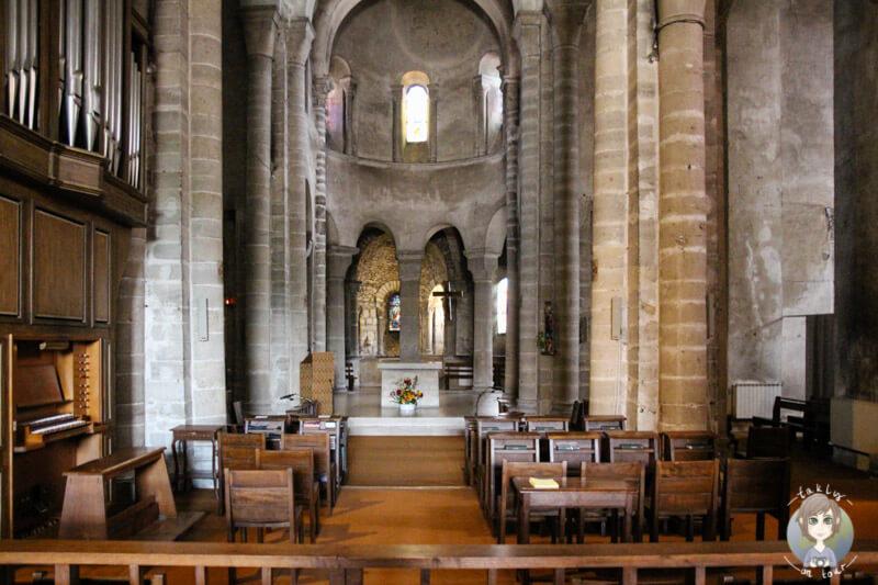 Die Kirche der Abtei Saint Vincent, Chantelle, Auvergne