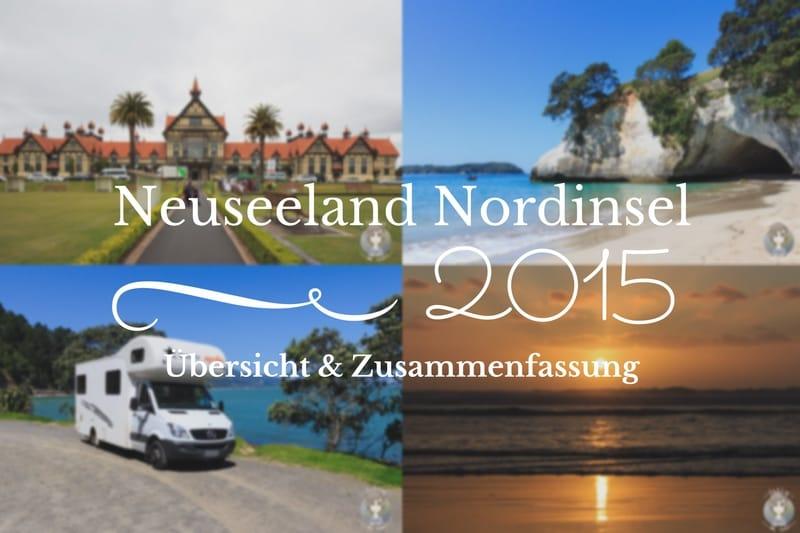 Zusammenfassung unsere Route über die Neuseeland Nordinsel mit dem Camper - takly on tour
