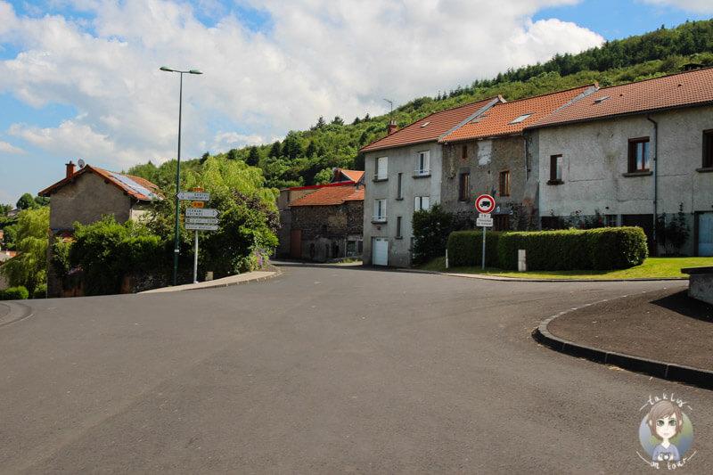 Fahrt durch die Auvergne, Frankreich