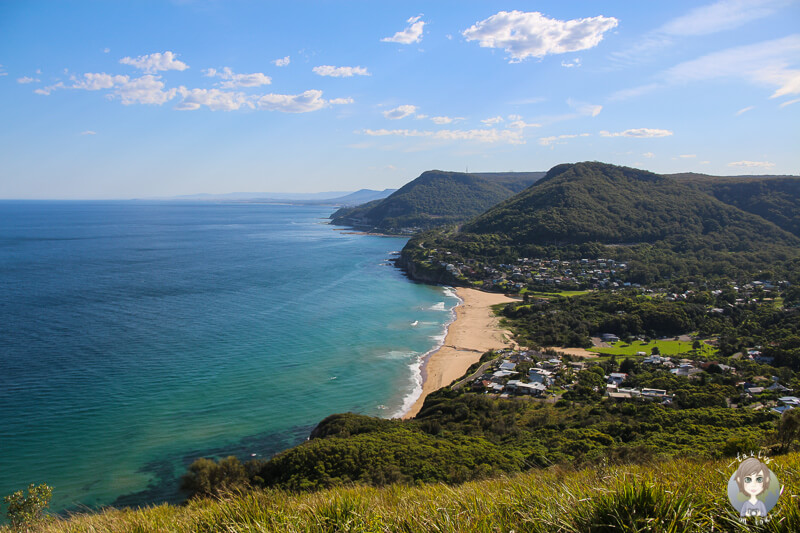 Aussicht vom Stanwell Tops Lookout in Otford, NSW