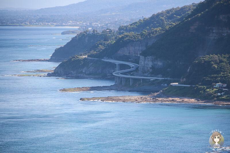 Blick auf die Sea Cliff Bridge in Clifton