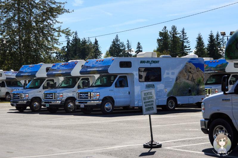 Camperübernahme bei Cruise America, Everett, USA
