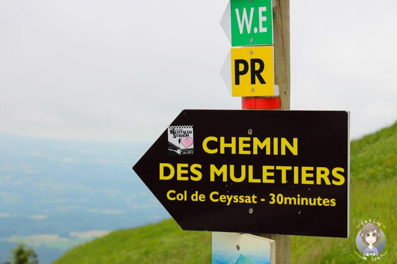 Wegbeschreibung des Chemin des Muletiers, Frankreich