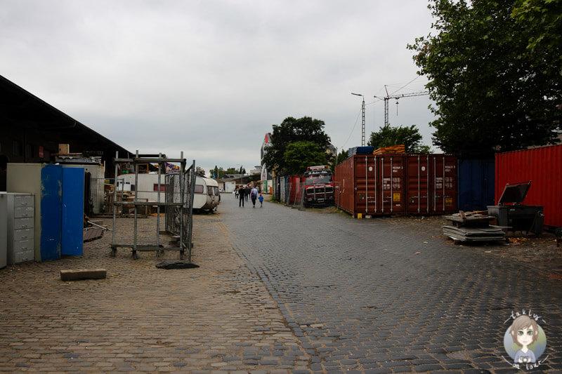 Eingang vom Gelände Jack in the Box e.V., Köln Ehrenfeld