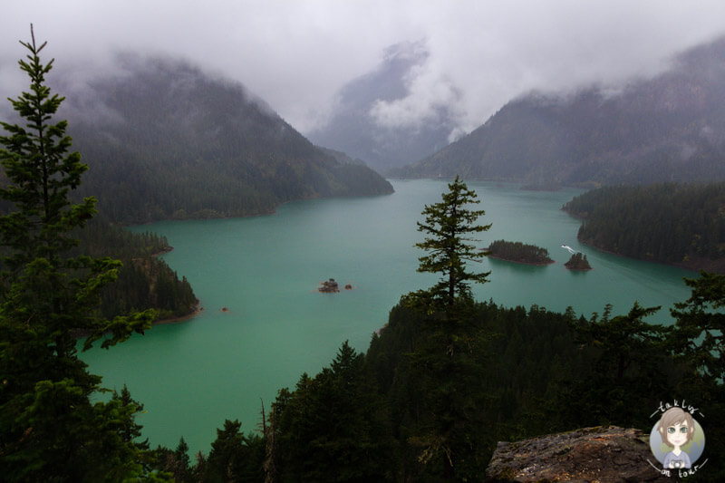 Viewpoint Diablo Lake, Washington, USA