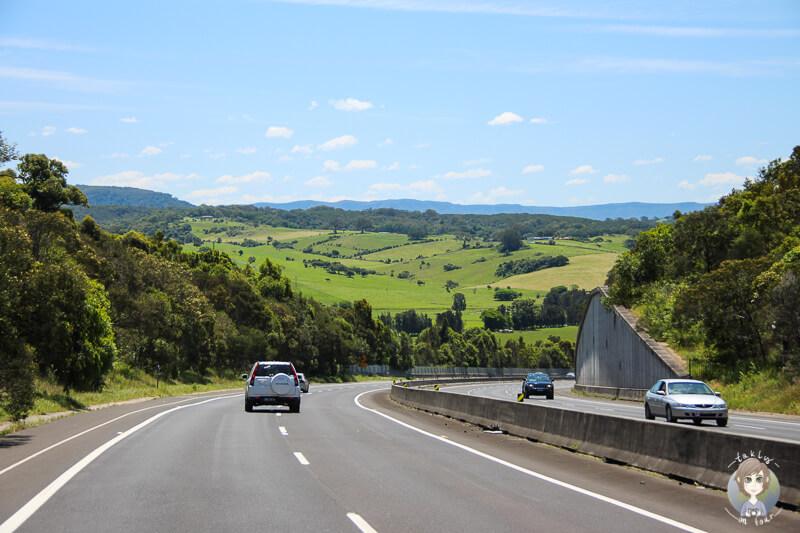 Fahrt über den Tourist Drive 9, NSW