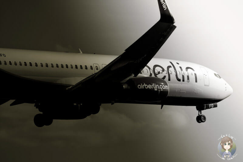 AirBerlin im Landeanflug auf den Flughafen KölnBonn