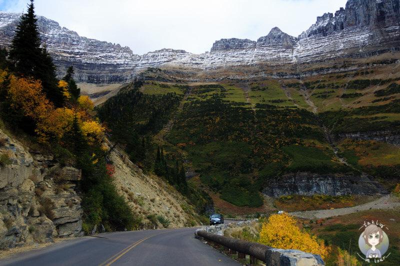 Fahrt durch den Glacier National Park, Montana, USA