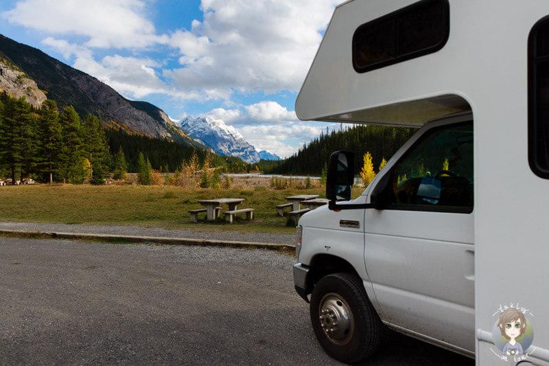 Mit dem Wohnmobil auf dem Icefields Parkway, Kanada