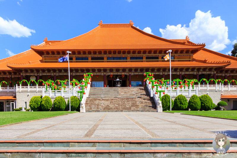 Der Fokuangshan Nan Tien Temple in Berkeley, NSW, Australien