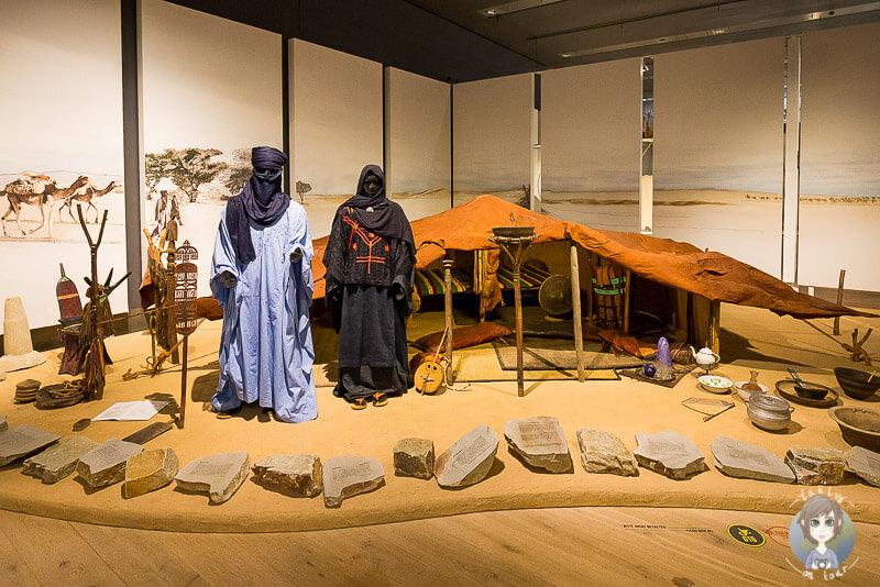 Präsentation von Nomadenleben im interessanten Kultur Museum in Köln