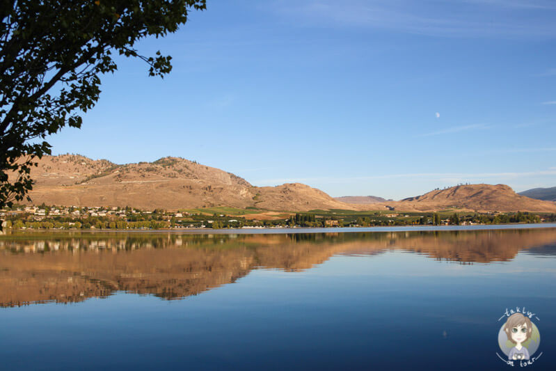 Der Osoyoos Lake in British Columbia, Kanada