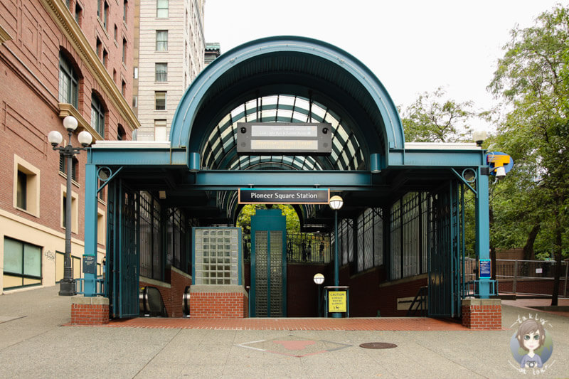 Sightseeing in Seattle, Pioneer Square Station