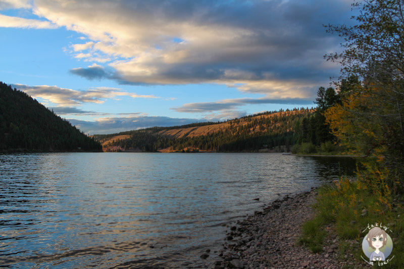 Sonnenuntergang in Montana am Salmon Lake, USA