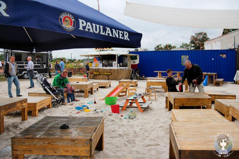 Ein Spielplatz für Kinder auf dem Street Food Festival Köln