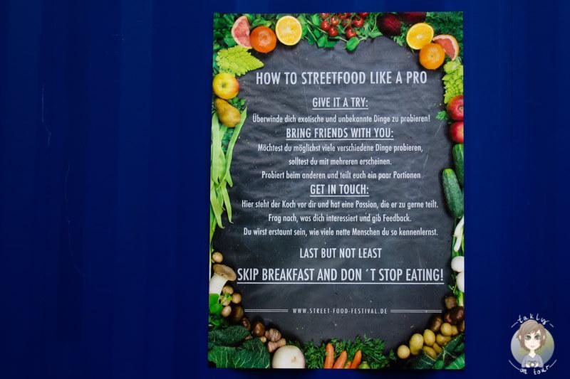 Regeln für das Street Food Festival