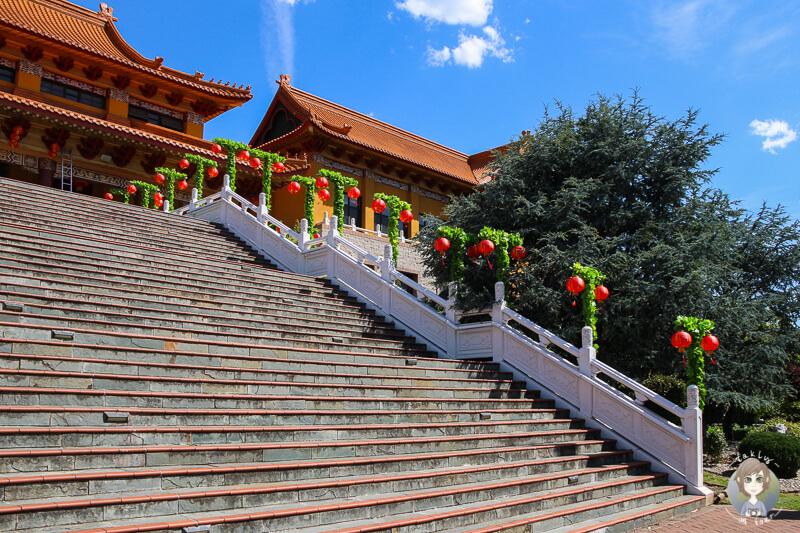 Treppe zum Nan Tien Temple