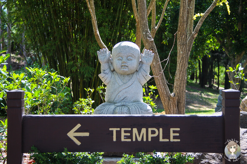 Wegweiser zum Nan Tien Temple, NSW