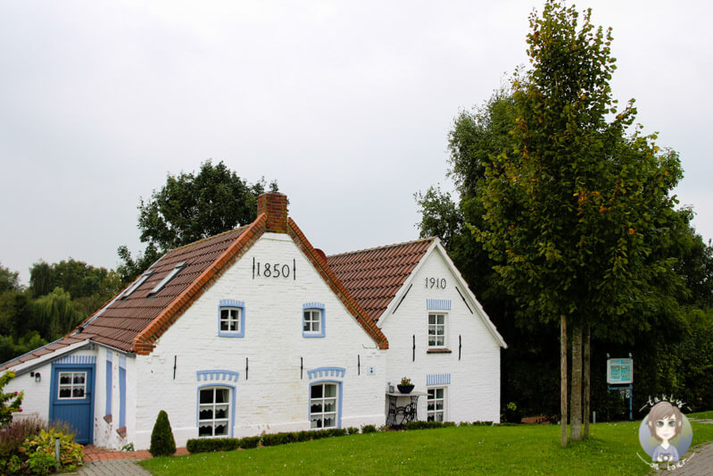 Historische Häuser am Deich von Greetsiel