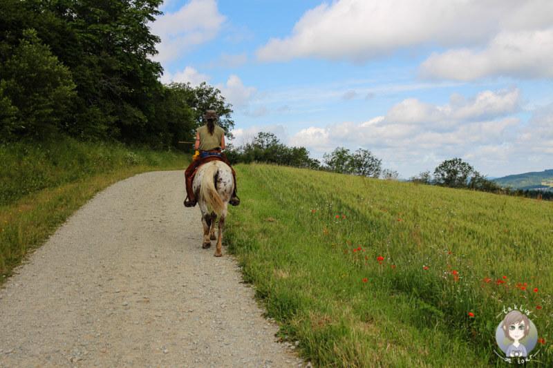 Mit dem Pferd ausreiten in Frankreich