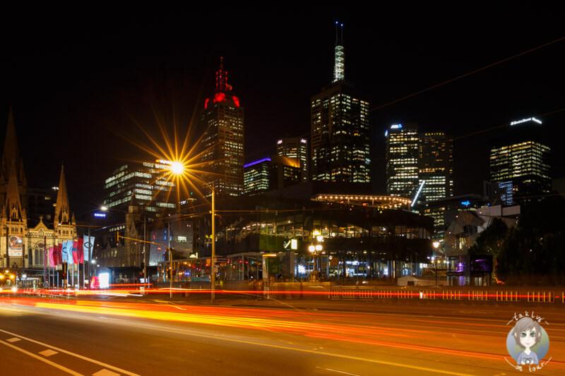 Blick auf den Federation Square, Melbourne, Australien