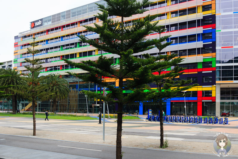 Überall sind farbige Gebäude