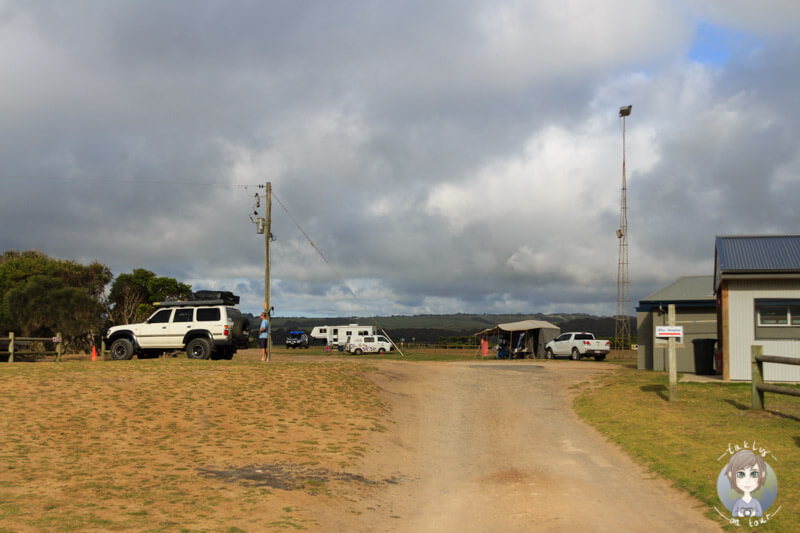 Der Campingplatz im Princetown Recreation Reserve, Victoria