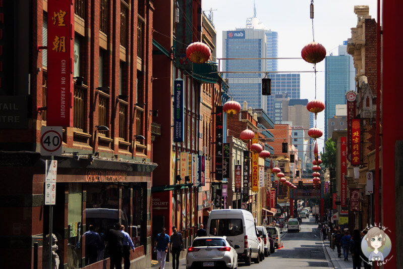 Lampions im Chinatown in Melbourne