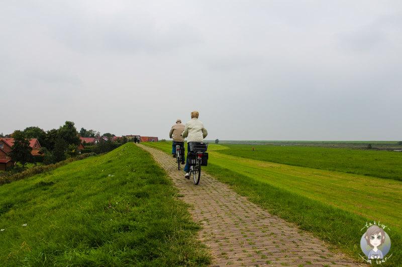 Eine Fahrradtour über den Deich in Greetsiel