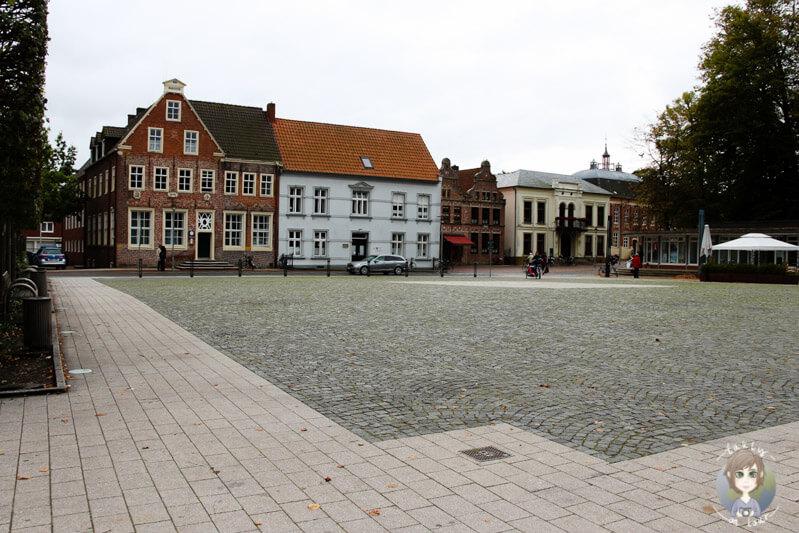 Der Marktplatz von Norden, Ostfriesland