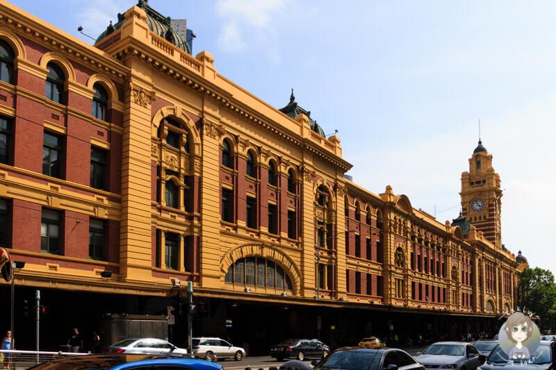 Bahnhof, Station in der Flinders Street Melbourne