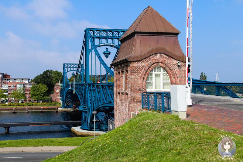 Die sehenswerte Kaiser-Wilhelm-Brücke in Wilhelmshaven