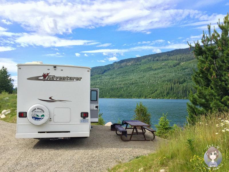 Schöne Campingplätze erhalten durch Self Registration, Camping in Kanada