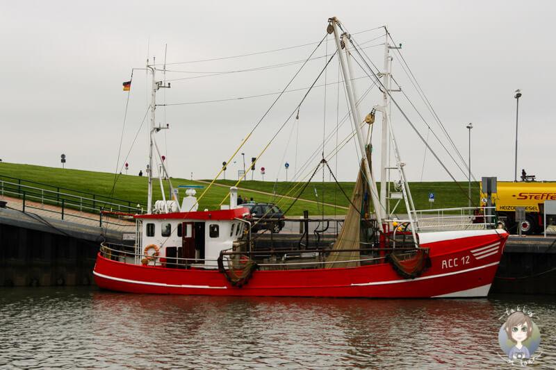 Ein Kahn ihn Dornumersiel, Ostfriesland