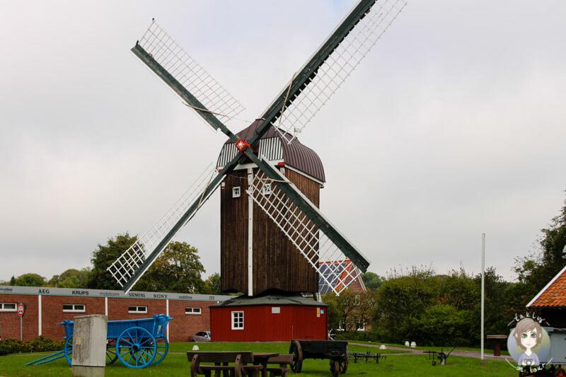 Eine Mühle in Dornum, Ostfriesland