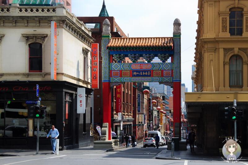 Das Tor zum Chinatown in Melbourne