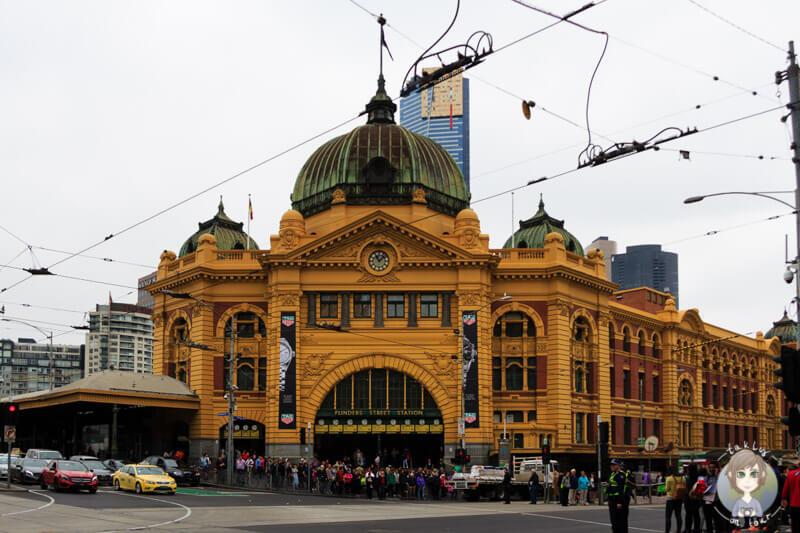 Die Flinder Street Station, Melbourne, Victoria, Australien