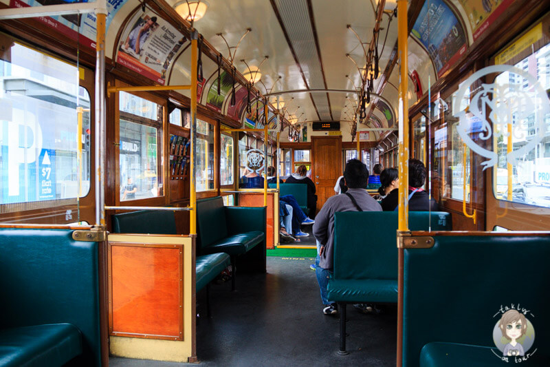 Die City Circle Tram in Melbourne - Free Tram Zone