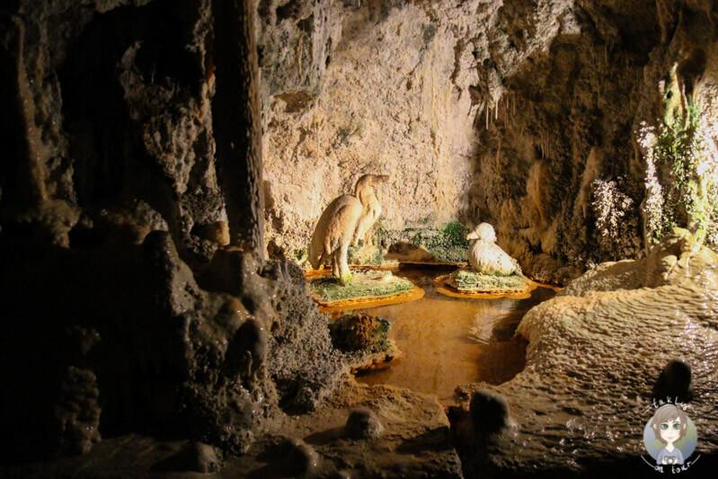 Kunsthandwerk in der Grotte von Fontaines Pétrifiantes de Saint Nectaire, Frankreich
