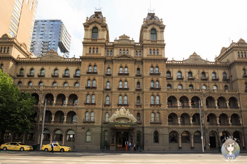 Das Hotel Windsor in der Spring Street, Melbourne