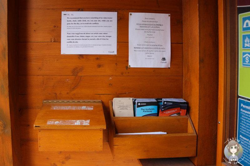 Informationen und Anleitung zur Camping Self Registration auf dem Campingplatz, Campground
